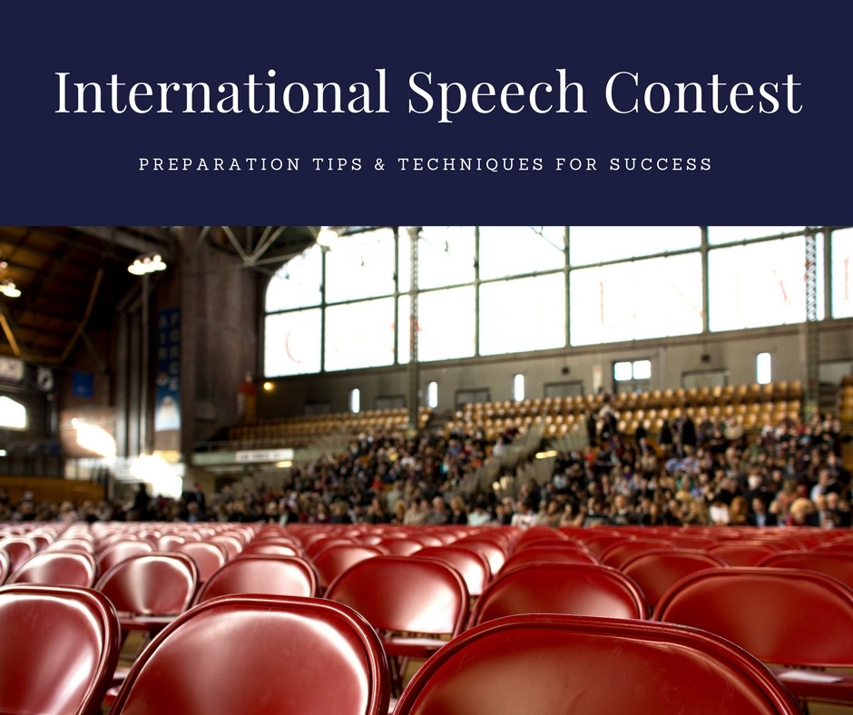 preparing for the interrnational speech contest